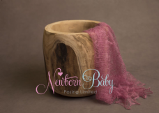 Plain Colour Lacey Wrap/Stuffer - MID  SALMON PINK